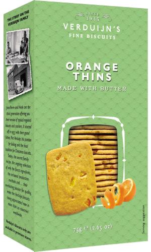 Verduijns Buttergebäck mit Orangen