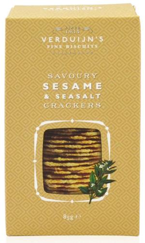 Verduijns Cracker mit Sesam und Meersalz